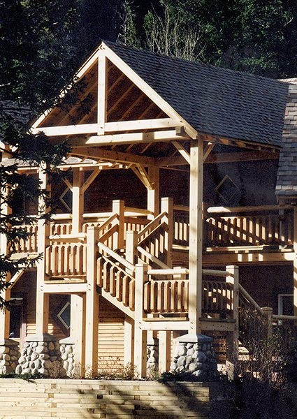 Normerica Timber Frames, Commercial Projects, Buffalo Mountain Lodge, Hotel, Banff, Canada, Exterior