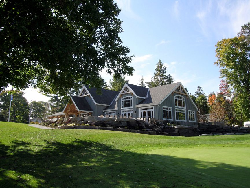 Normerica Timber Frames, Commercial Projects, Windermere Golf & Country Club, Muskoka, Ontario, Golf Clubhouse, Exterior
