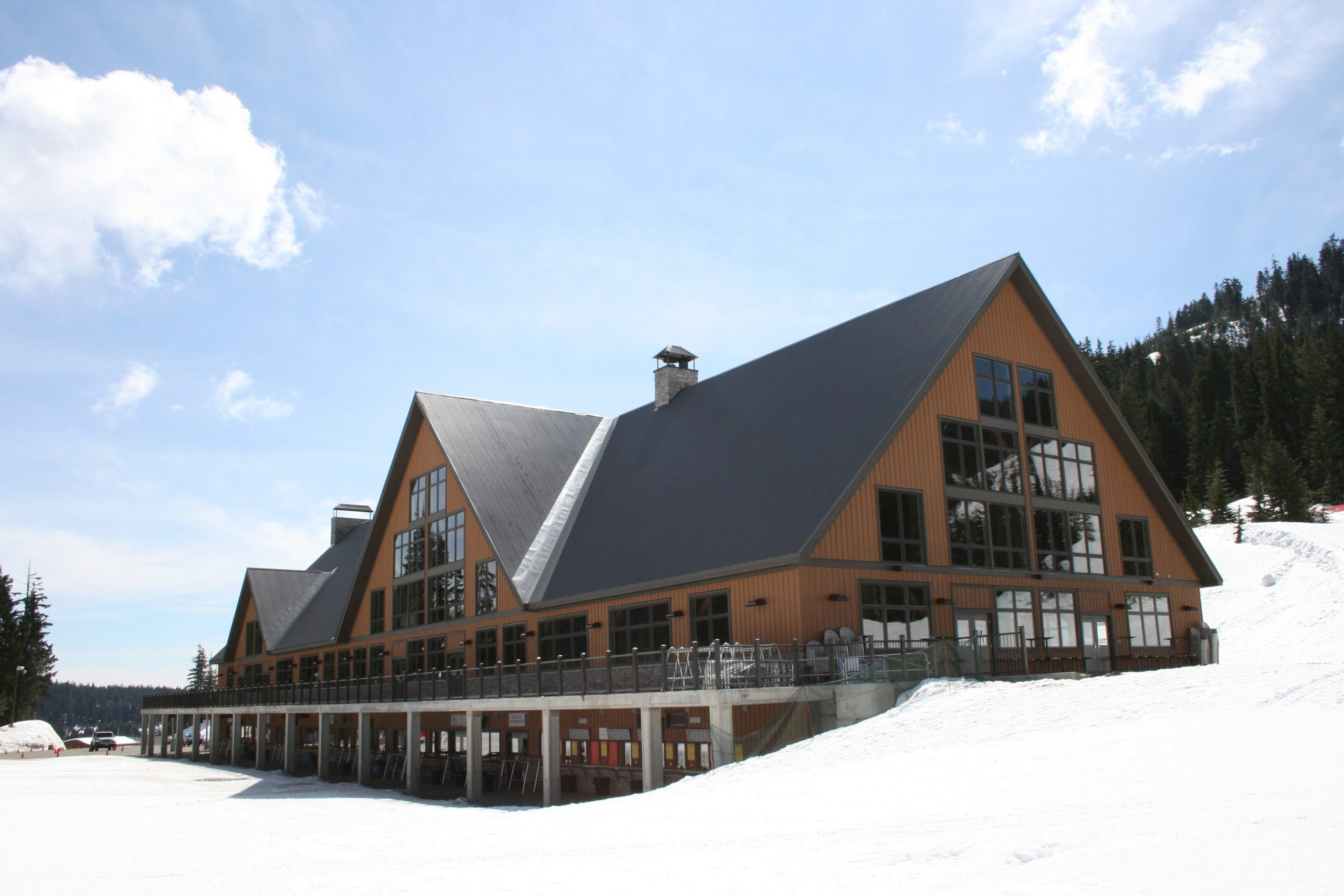 Normerica Timber Frame, Commercial Project, Cypress Mountain Day Lodge, Ski Resort, West Vancouver, British Columbia, Exterior