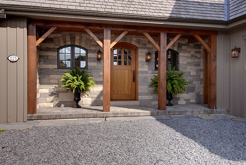 Normerica Timber Frame, Exterior, Cottage, Entry, Front Porch