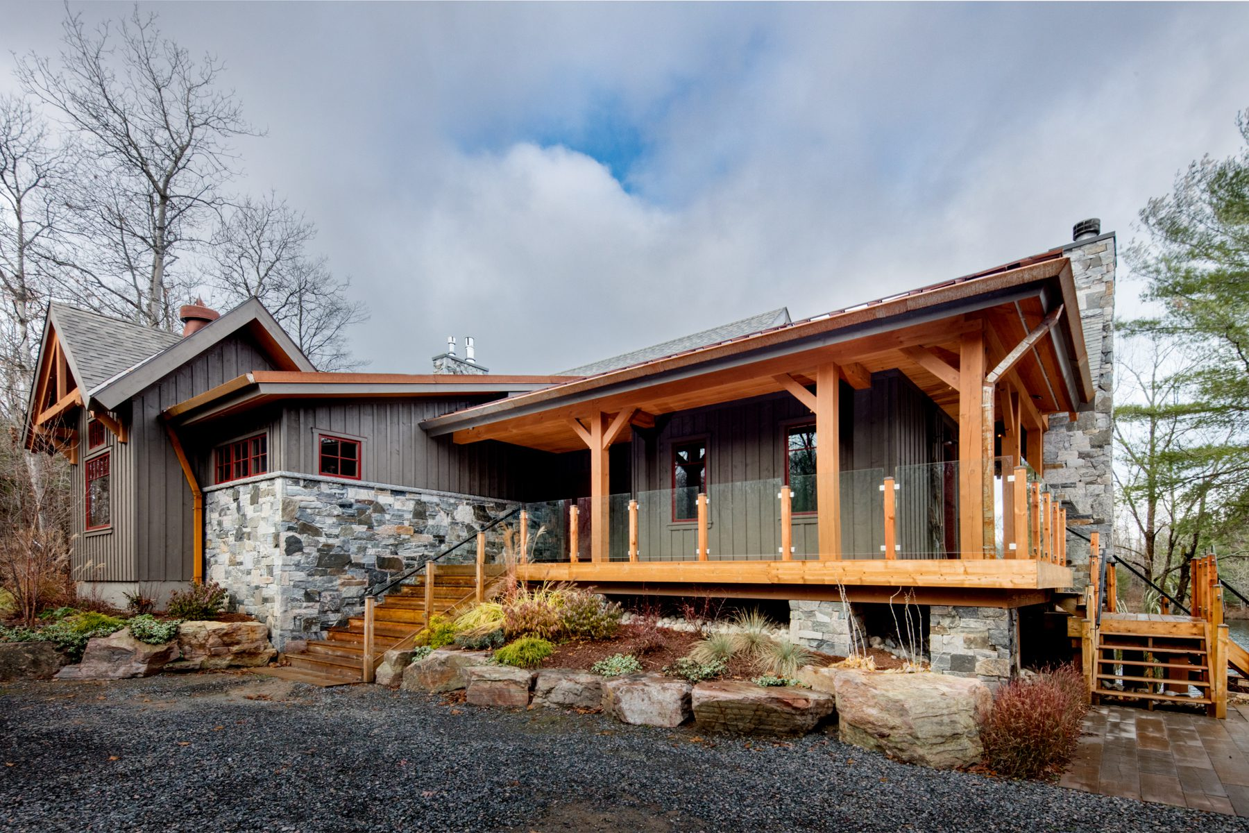 Normerica Timber Frame, Exterior, Cottage, Front View, Porch