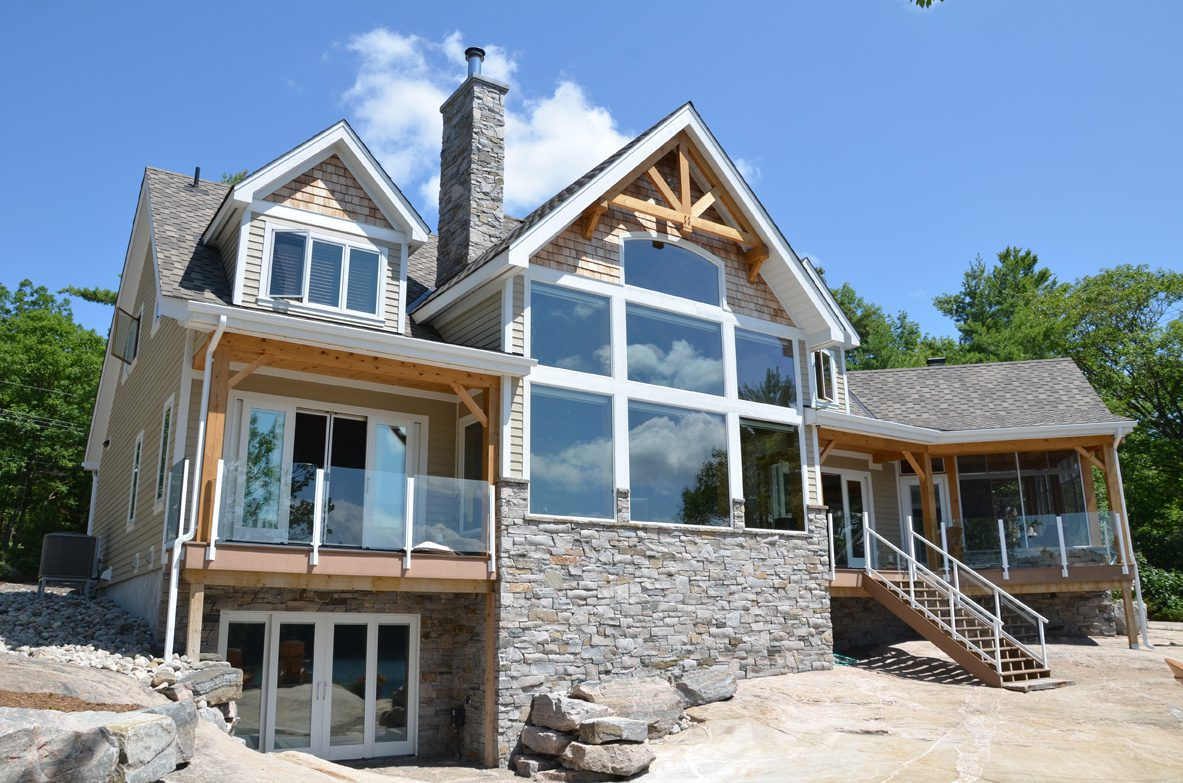 Normerica Timber Frame, Exterior, Cottage, Lakeview, Walkout Basement