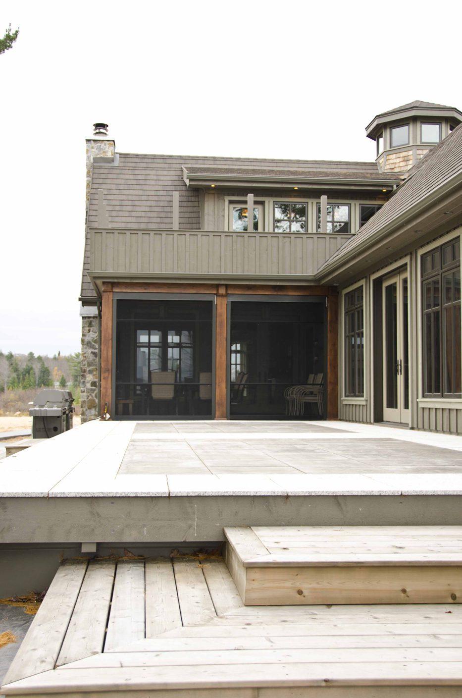 Normerica Timber Frame, Exterior, Cottage, Screened Poch, Deck, Backyard