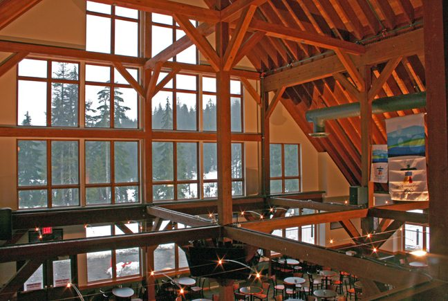 Normerica Timber Frame, Commercial Project, Cypress Mountain Day Lodge, Ski Resort, West Vancouver, British Columbia, Interior