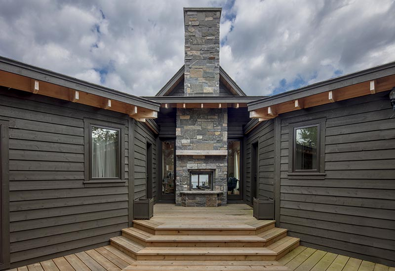 Normerica Timber Frame, Exterior, Cottage, Fireplace, Deck