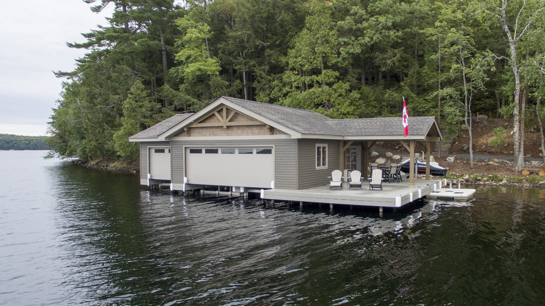 Normerica Timber Frame, Exterior, Cottage, Lake, Boathouse