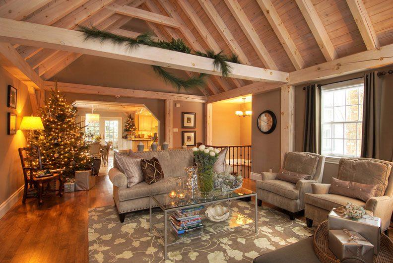 Normerica Timber Frame, Interior, Family Room