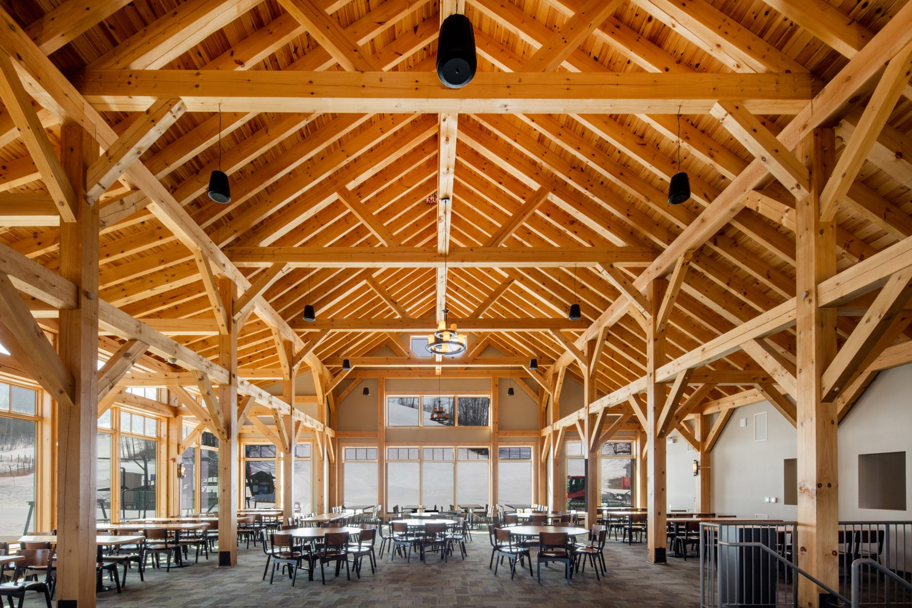 Normerica Timber Frames, Heights of Horseshoe, Ski & Country Club, Commercial Projects, Barrie, Ontario, Interior, Clubhouse
