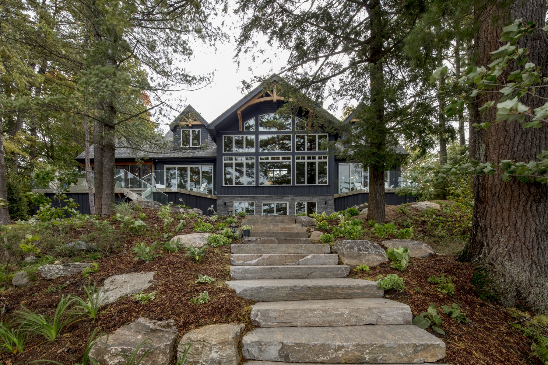 Normerica Timber Frame, Exterior, Cottage, Lake View, Rear View