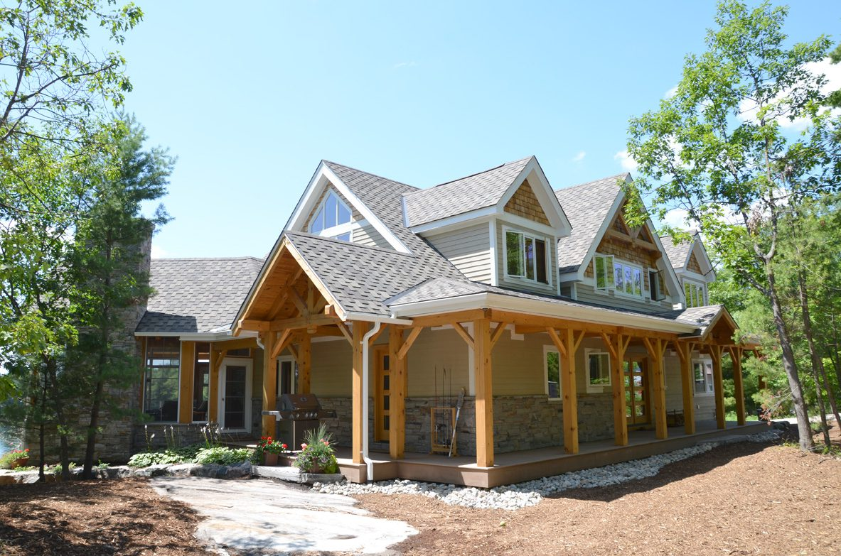 Normerica Timber Frame, Exterior, Cottage, Porch, Front, Side