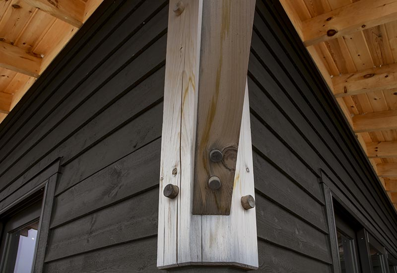 Normerica Timber Frame, Exterior, Cottage, Post and Beam Detail