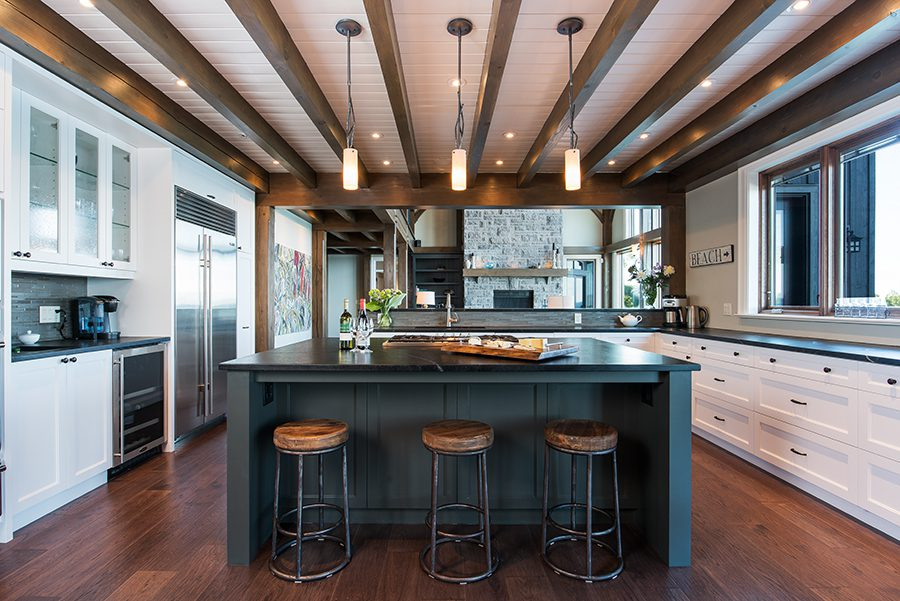 Normerica Timber Frame, Interior, Cottage, Kitchen, Open Concept