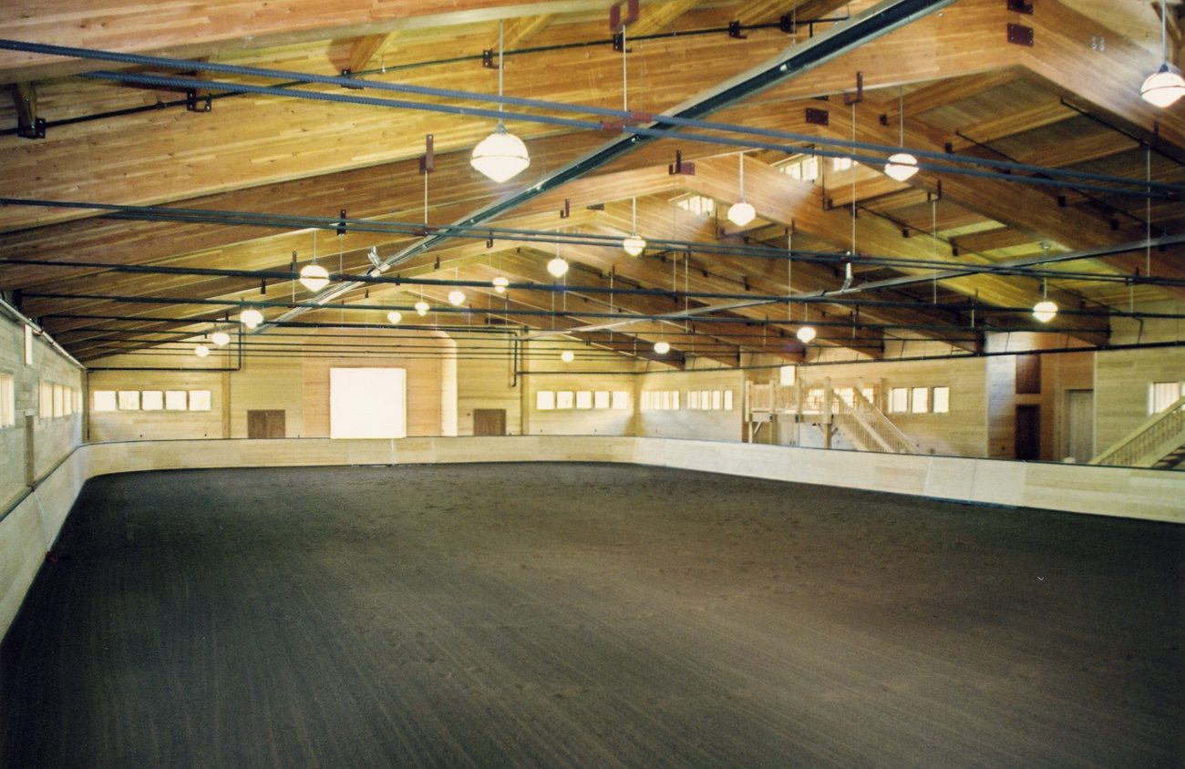 Normerica Timber Frames, Commercial Project, Chaparral Ranch, Horse Riding Arena, Aspen, USA, Interior
