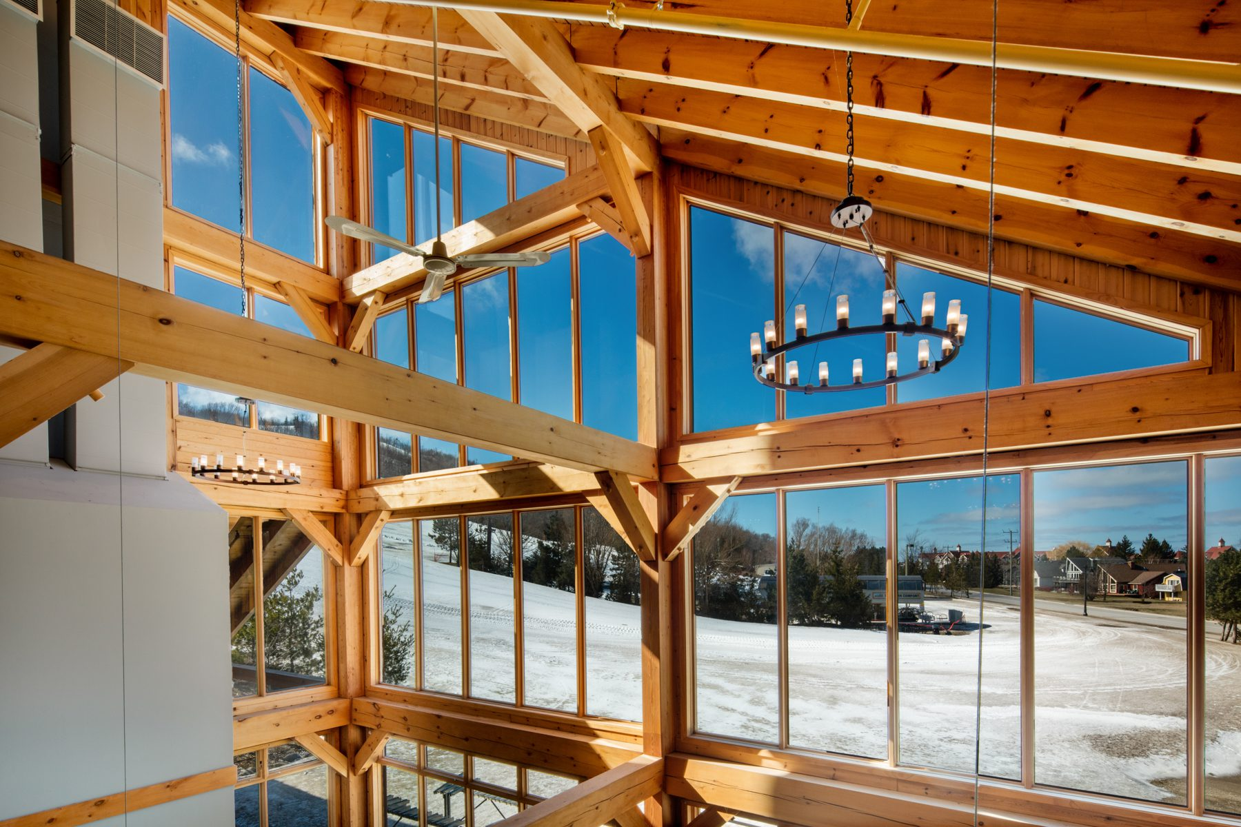 Normerica Timber Frames, Commercial Projects, Blue Mountain South Lodge, Interior, Collingwood, Ontario, Ski Resort, Clubhouse