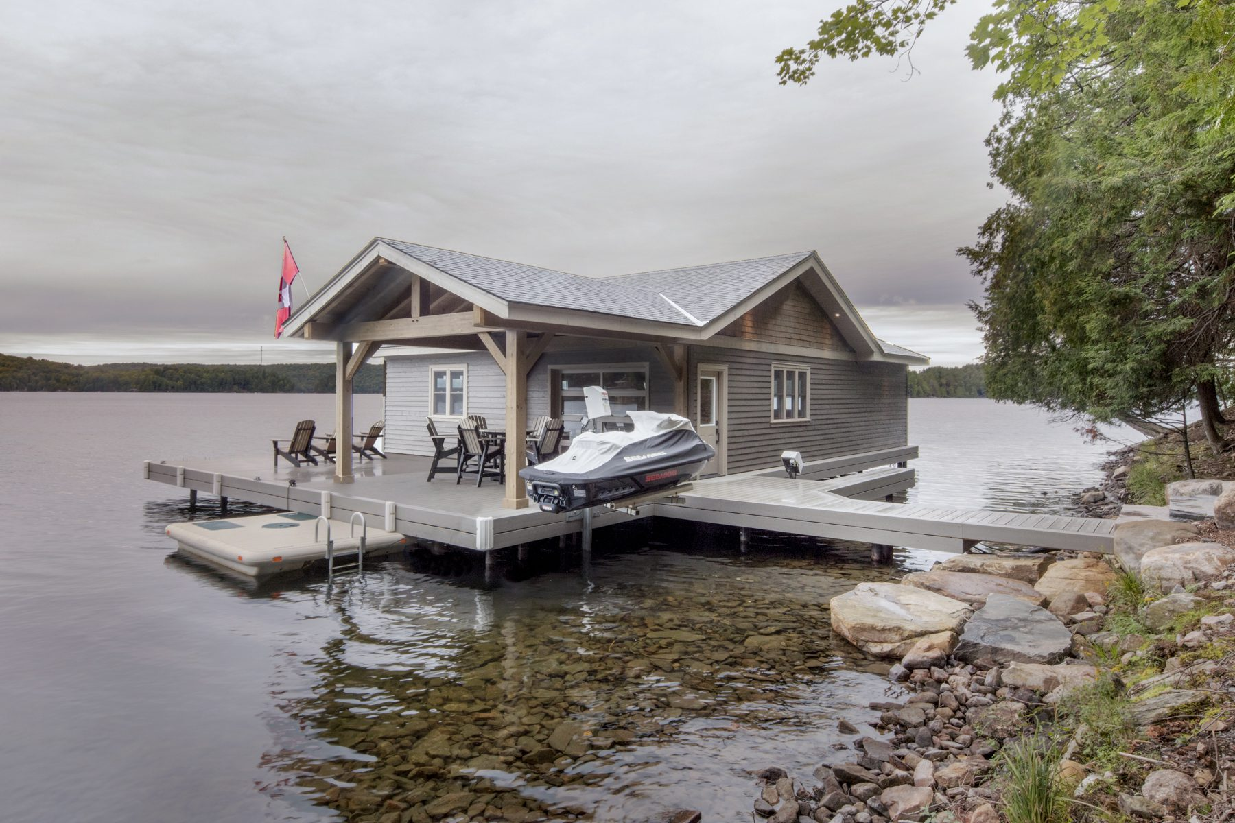 Normerica Timber Frame, Exterior, Cottage, Boathouse, Lake