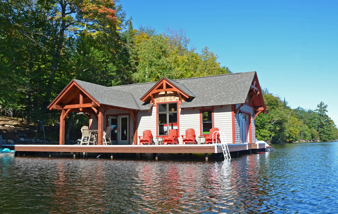 Normerica Timber Frame, Exterior, Cottage, Boathouse