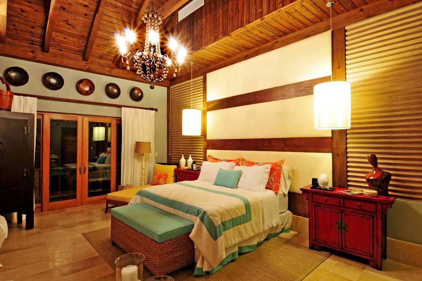 Normerica Timber Frames, Commercial Project, Las Iguanas Villas, Dominican Republic, Interior, Bedroom, Villas