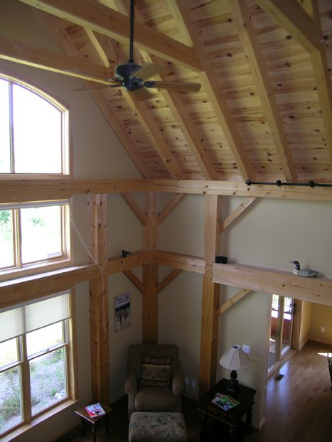 Normerica Timber Frame, Commercial Project, The Cottages at Diamond 'In the Ruff', Muskoka Lakes, Ontario, Interior