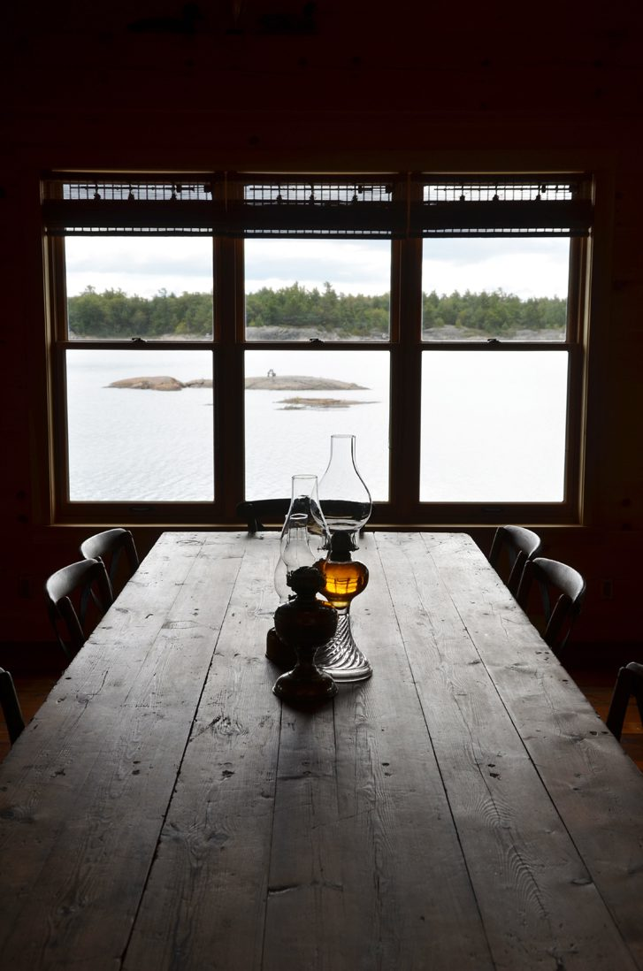 Normerica Timber Frame, Interior, Cottage, Dining Room, View of the Lake