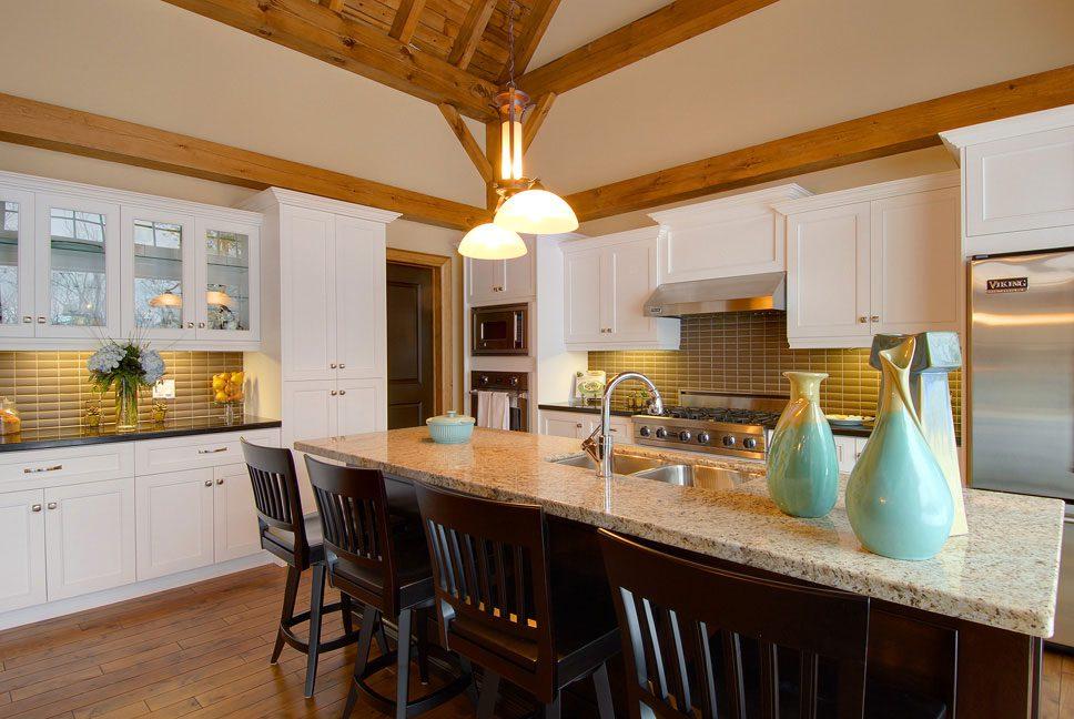 Normerica Timber Frame, Interior, Kitchen, Kitchen Island