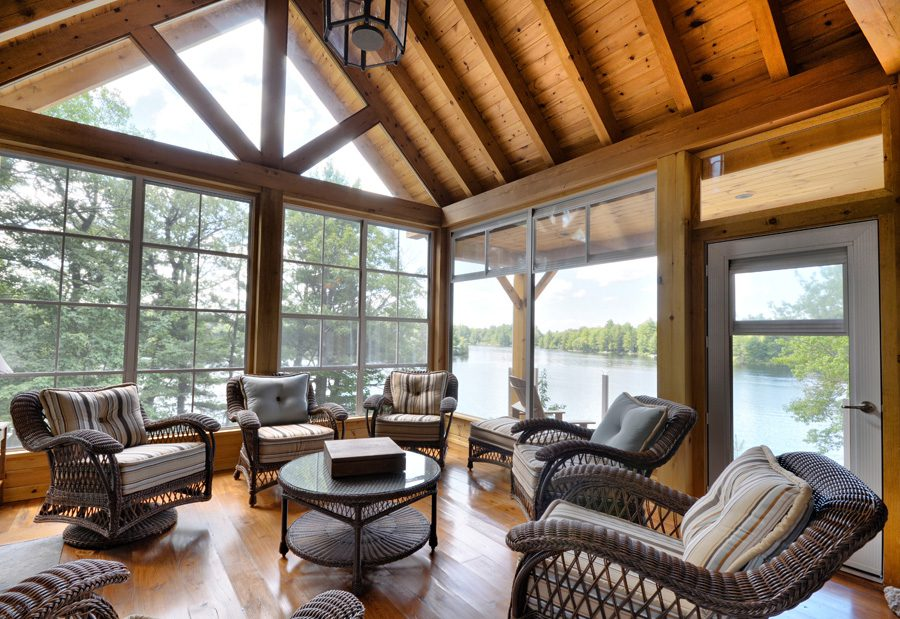 Normerica Timber Frame, Cottage, Interior, Screened Porch