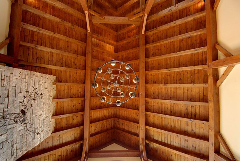 Normerica Timber Frame, Interior, Cottage, Cathedral Ceiling