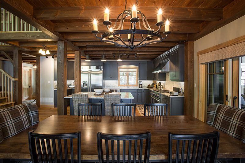 Normerica Timber Frame, Interior, Cottage, Dining Room, Kitchen, Open Concept