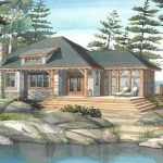 Normerica Timber Frame, House Plan, The Baril 3514, Watercolour