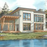 Normerica Timber Frame, House Plan, The Kershaw 3586, Watercolour