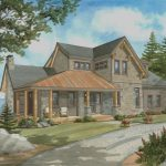 Normerica Timber Frame, House Plan, The Rosseau 3829, Watercolour