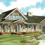 Timber Frame Home Plans | The Algoma 3538 | Normerica | Watercolour