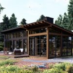 Normerica Timber Frames, House Plan, The Bayfield 3945, Exterior, Back, Porch