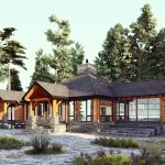 Normerica Timber Frames, House Plan, The Britt 3954, Exterior, Rear, Porch