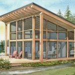 Normerica Timber Frames, House Plan, The Davidson 3872, Watercolour