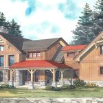 Normerica Timber Frames, House Plan, The Dufferin 3512, Watercolour