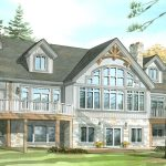 Normerica Timber Frames, House Plan, The Fremont 3582, Watercolour