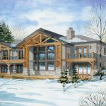 Normerica Timber Frames, House Plan, The Highrock 3579, Watercolour