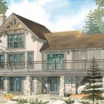 Normerica Timber Frames, House Plan, The Lanark 3522, Watercolour