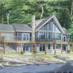 Normerica Timber Frames, House Plan, The Lennox 3546, Watercolour