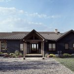 Normerica Timber Frames, House Plan, The Redstone 3920, Exterior, Front