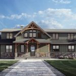 Normerica Timber Frames, House Plan, The Rossmore 3976, Exterior, Front