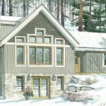 Green Home Designs Timber Frame | The Simcoe 3239 | Normerica | Watercolour