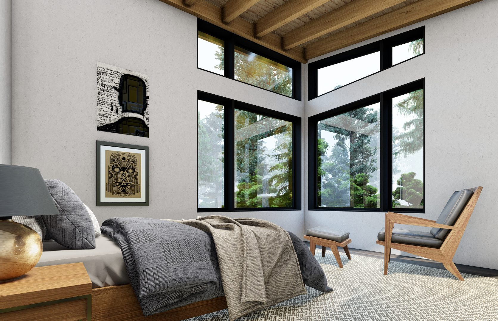 Normerica Timber Frames, House Plan, The Bayfield 3945, Interior, Bedroom