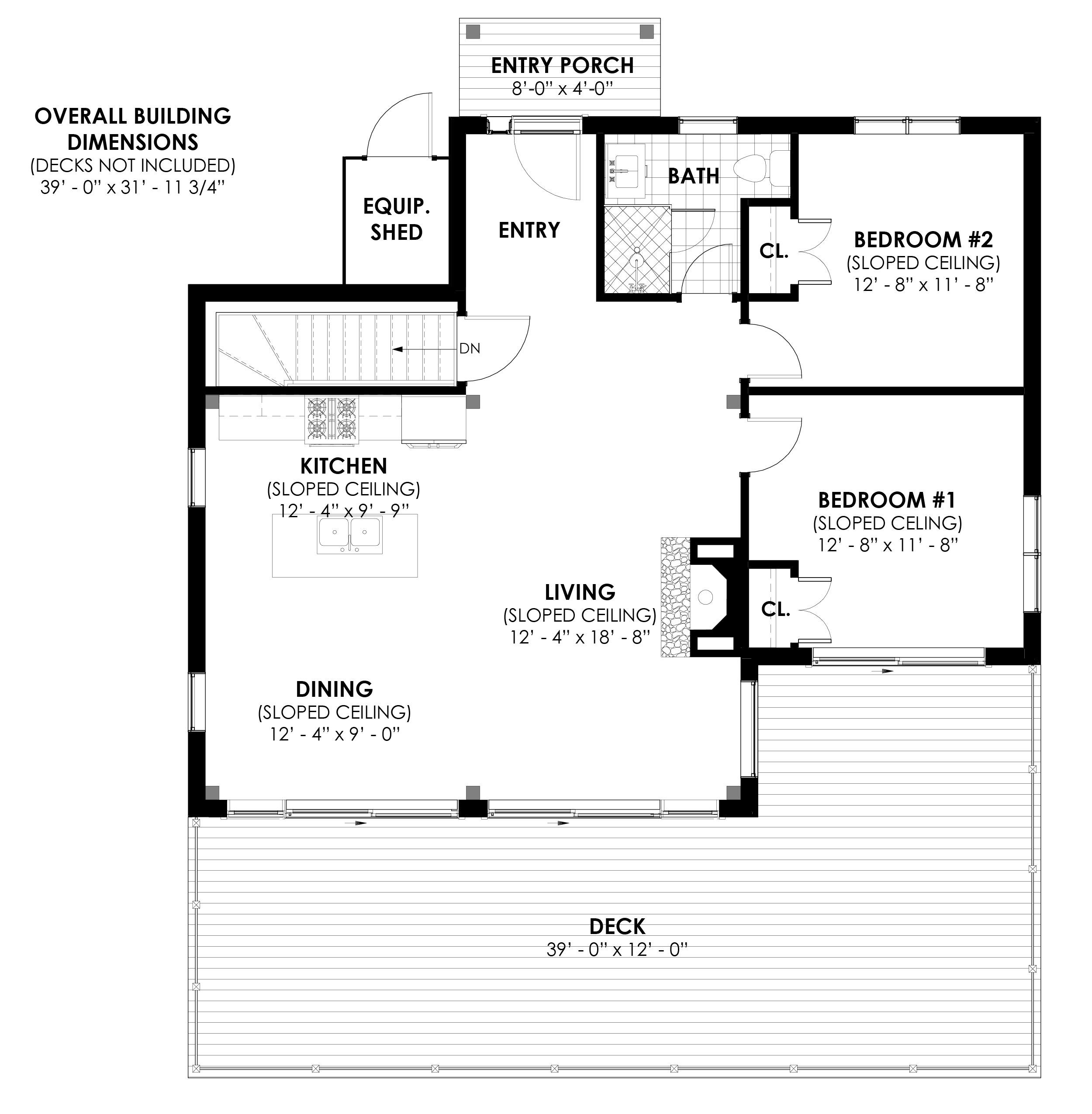 Normerica Timber Frames, House Plan, The Laurentian, First Floor Layout