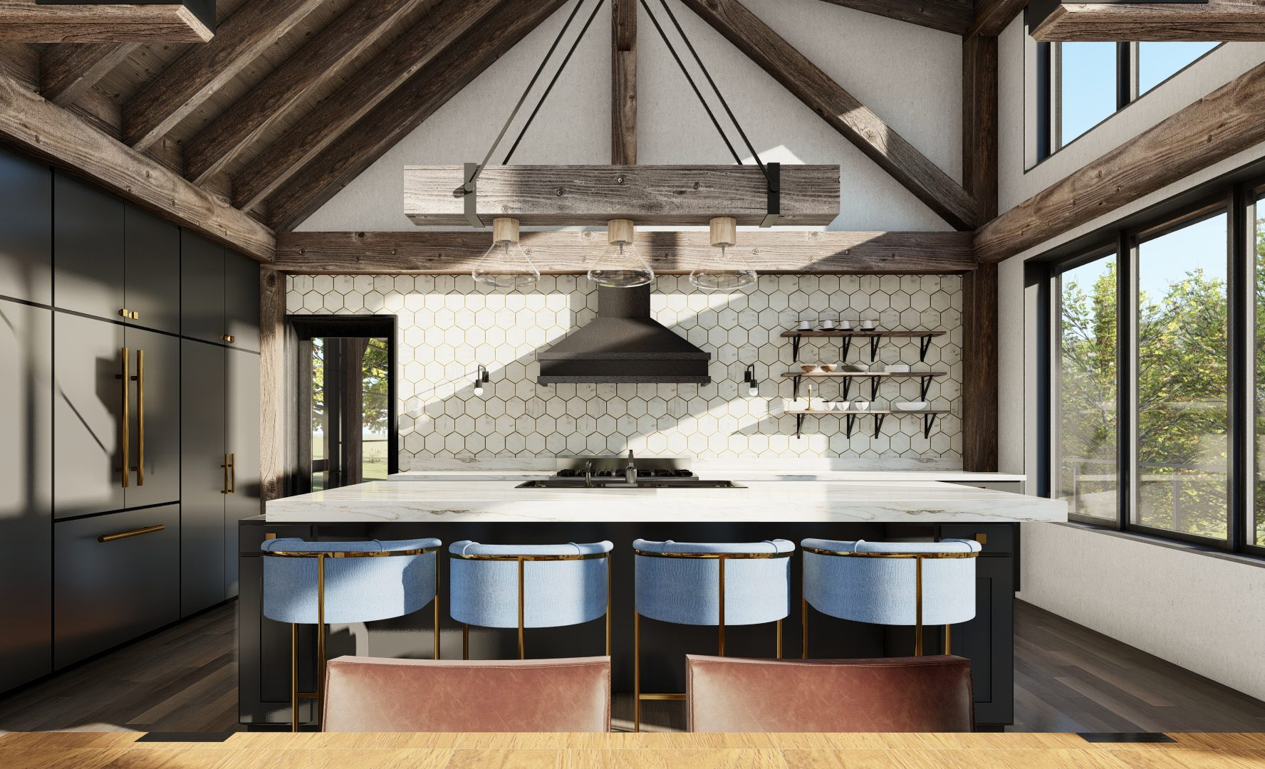 Normerica Timber Frames, House Plan, The Redstone 3920, Interior, Kitchen