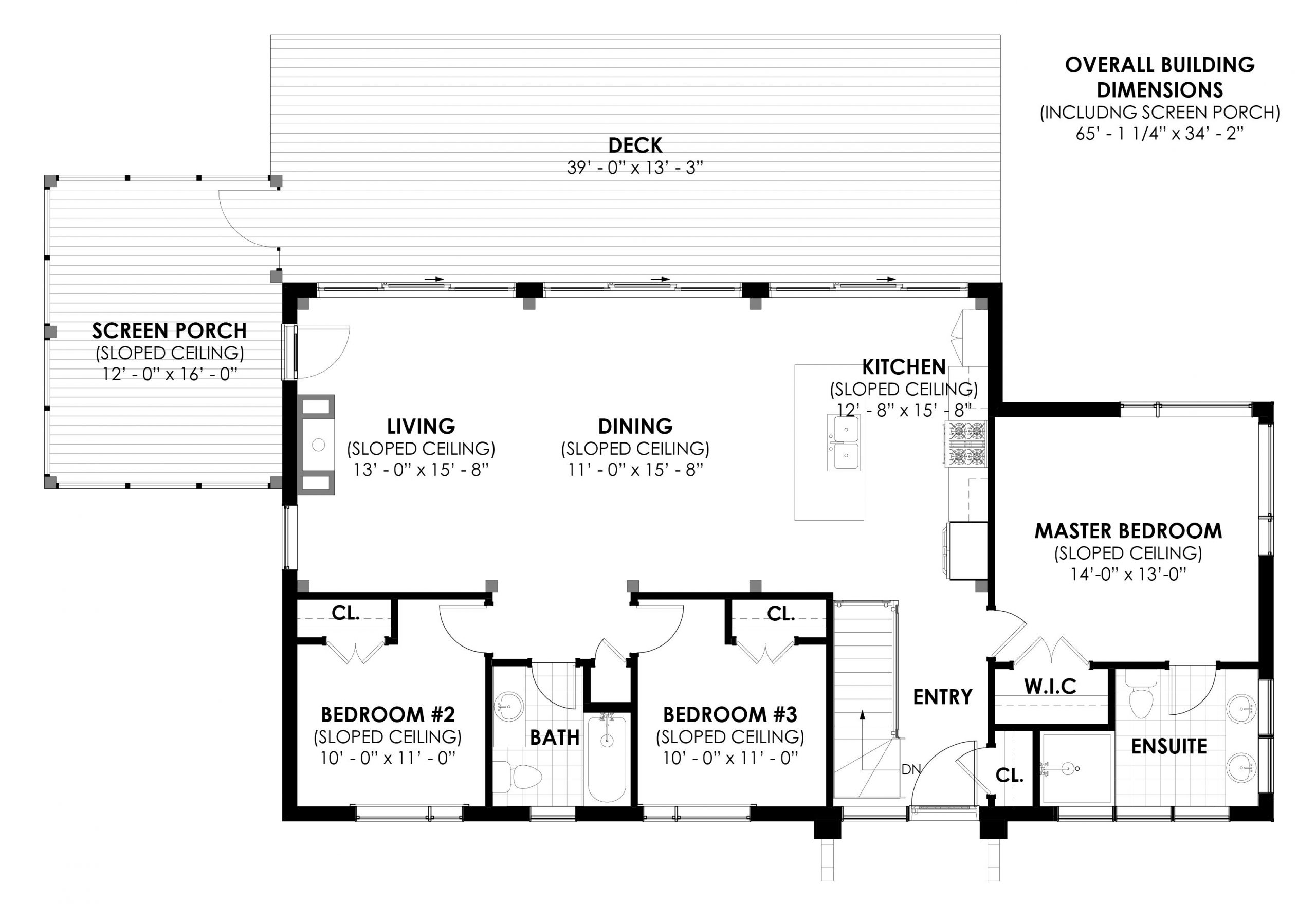 Normerica Timber Frames, House Plan, The Bayfield 3945, First Floor Layout
