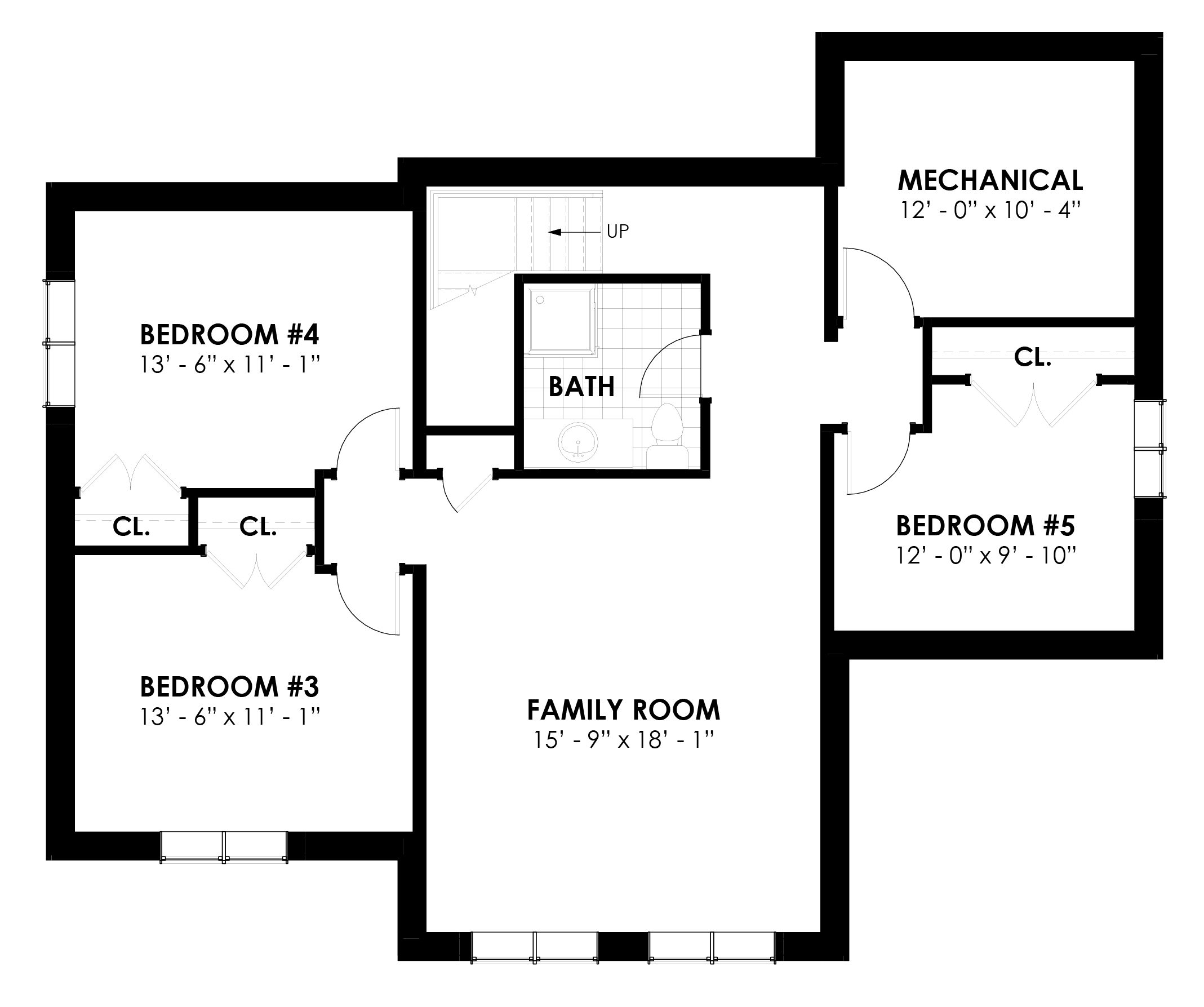 Normerica Timber Frames, House Plan, The Killarney 2134, Basement Layout