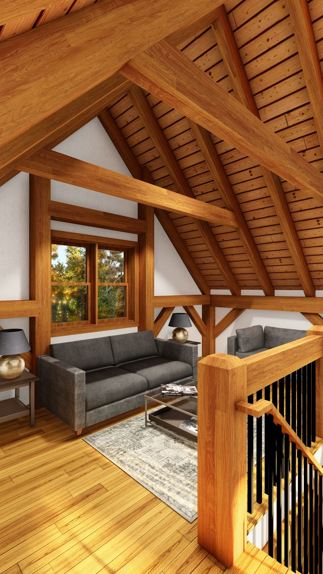 Normerica Timber Frames, House Plans, The Tobermory 3949, Interior, Second Floor Loft