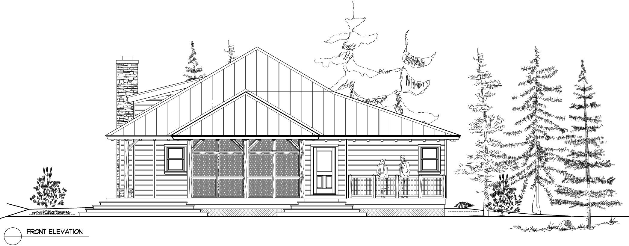 Normerica Timber Frame, House Plan, The Baril 3514, Front Elevation