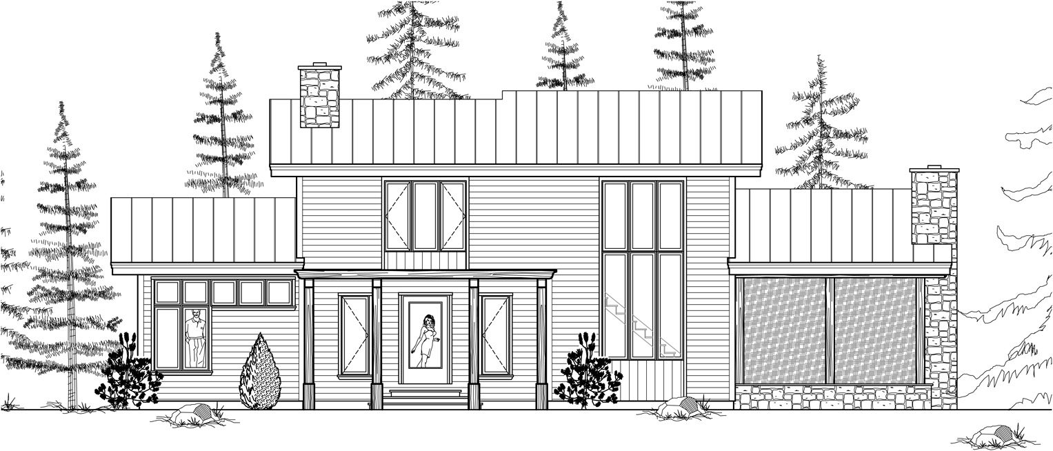 Normerica Timber Frame, House Plan, The Kershaw 3586, Front Elevation